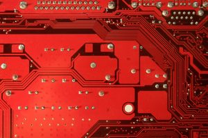 Computer texture circuit stock photo red motherboard