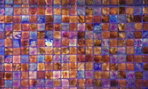 Glass Texture pearlescent shine tile wall metallic surface photo blue orange