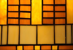 Glass Texture stained lamp window amber yellow glowing section