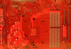 Red motherboard computer texture free stock photo