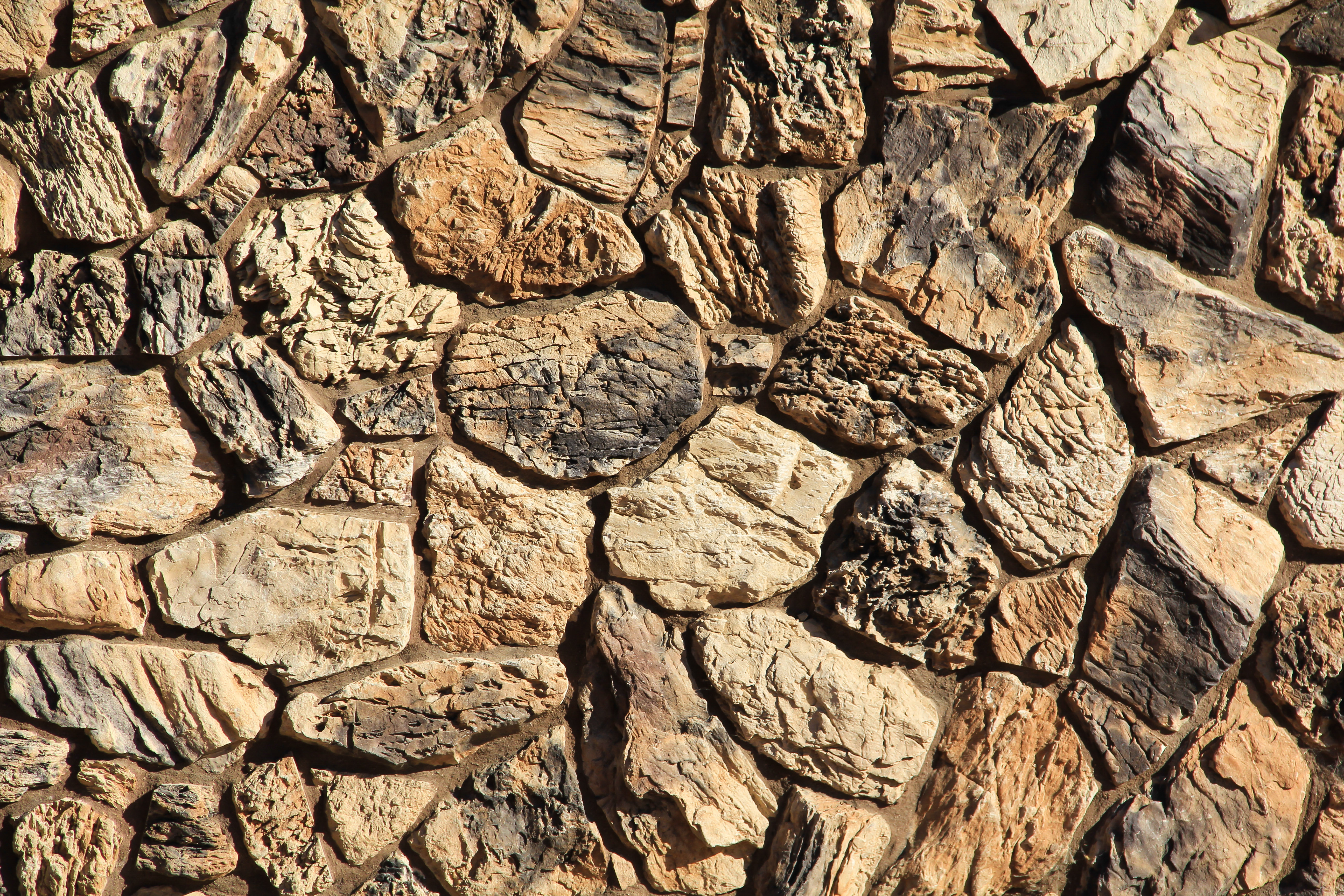 Rock Stone Texture : Stone texture rock wall jagged rough brown masonry stock