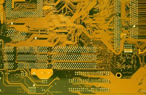 Yellow motherboard texture free computer stock photo