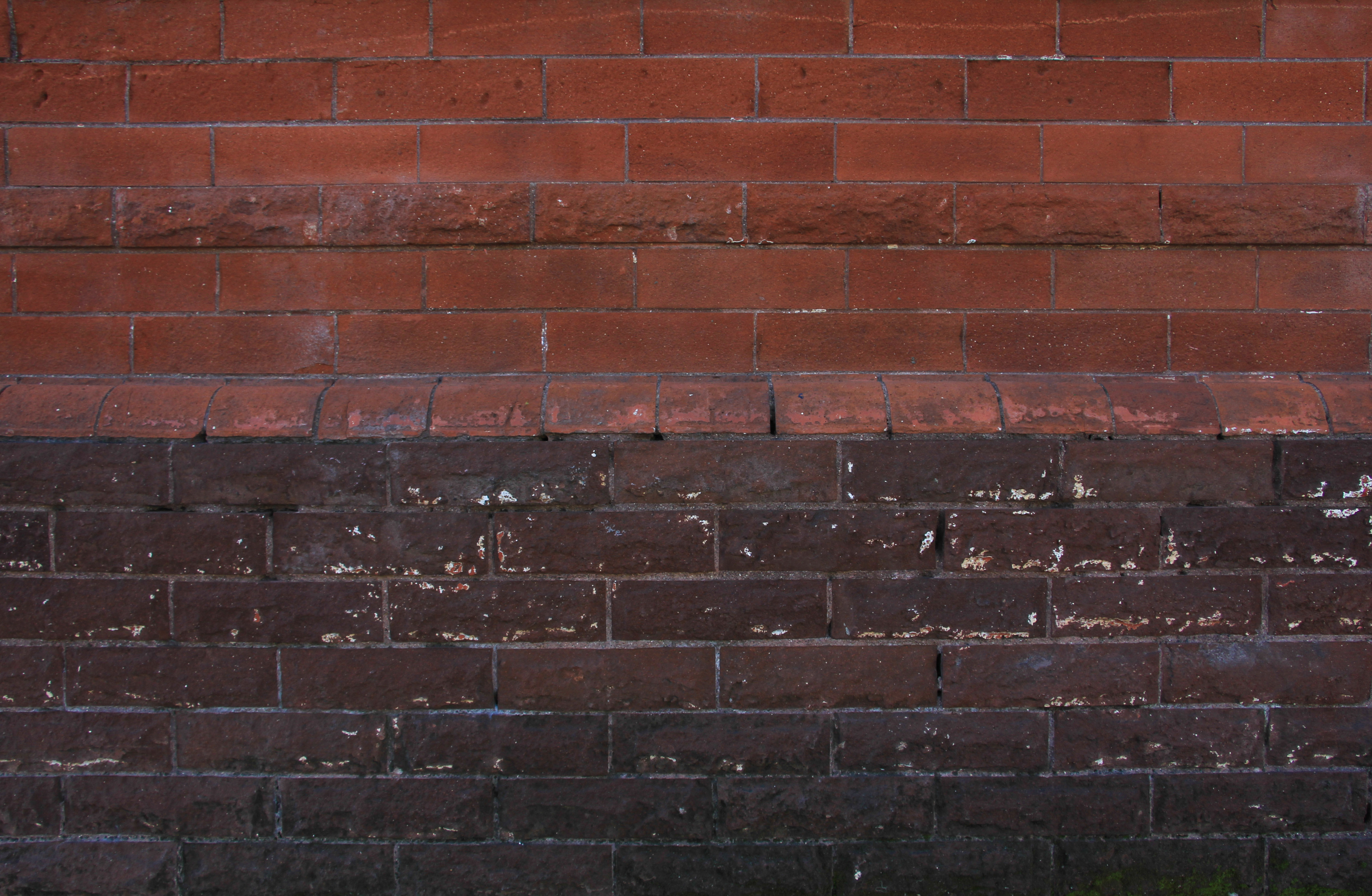 Brick Texture Half Red Black Dark Wall Rough Surface Wallpaper