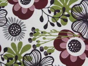 fabric texture floral design red green pattern wallpaper