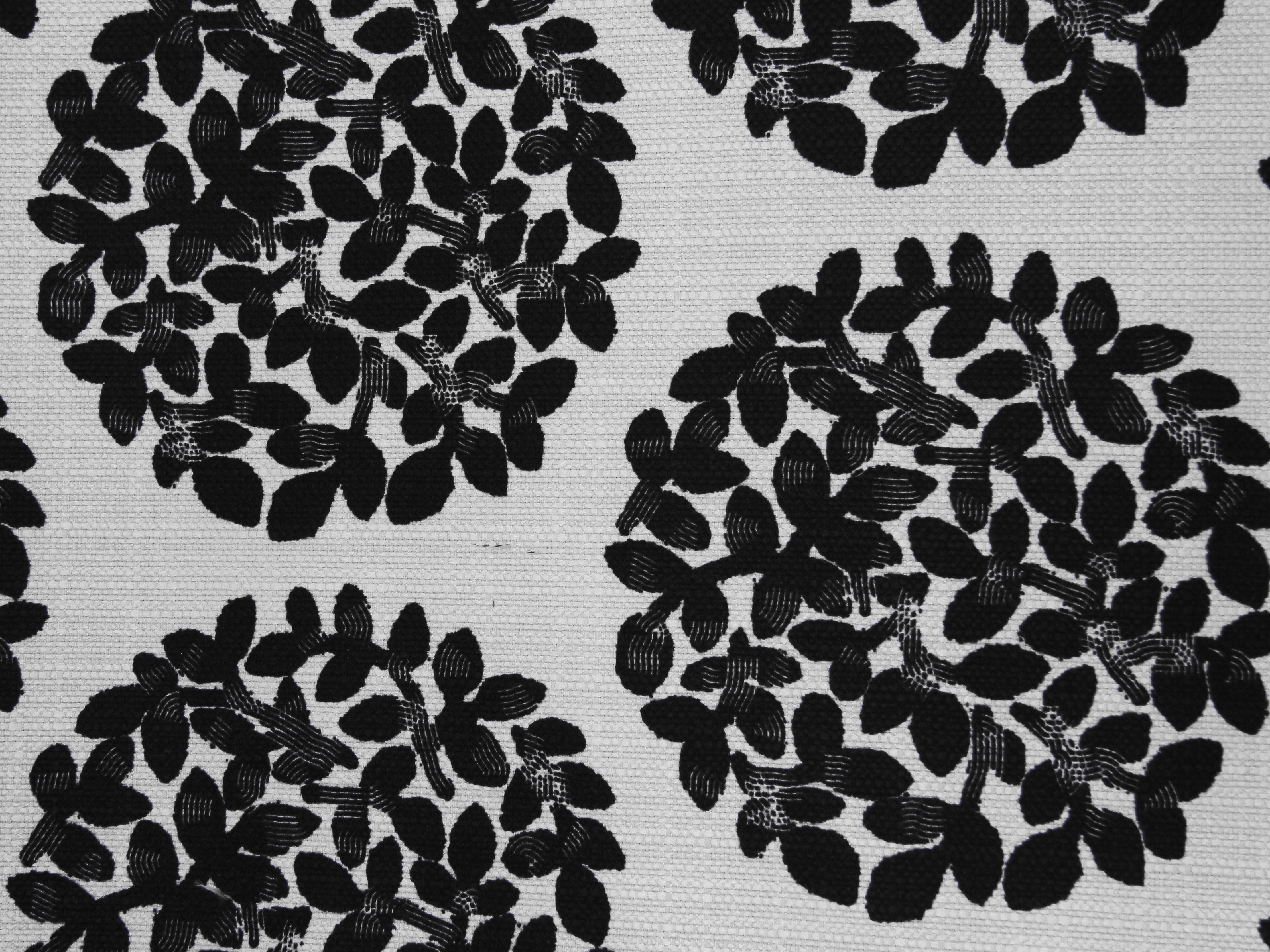 fabric texture leafy ball pattern black white cloth abstract ... for White Fabric Texture Design  193tgx