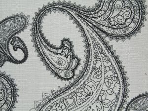 floral fabric texture black white stock pattern cloth wallpaper