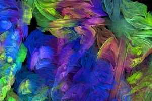 fractal texture digital pastel color abstract brush stroke stock image