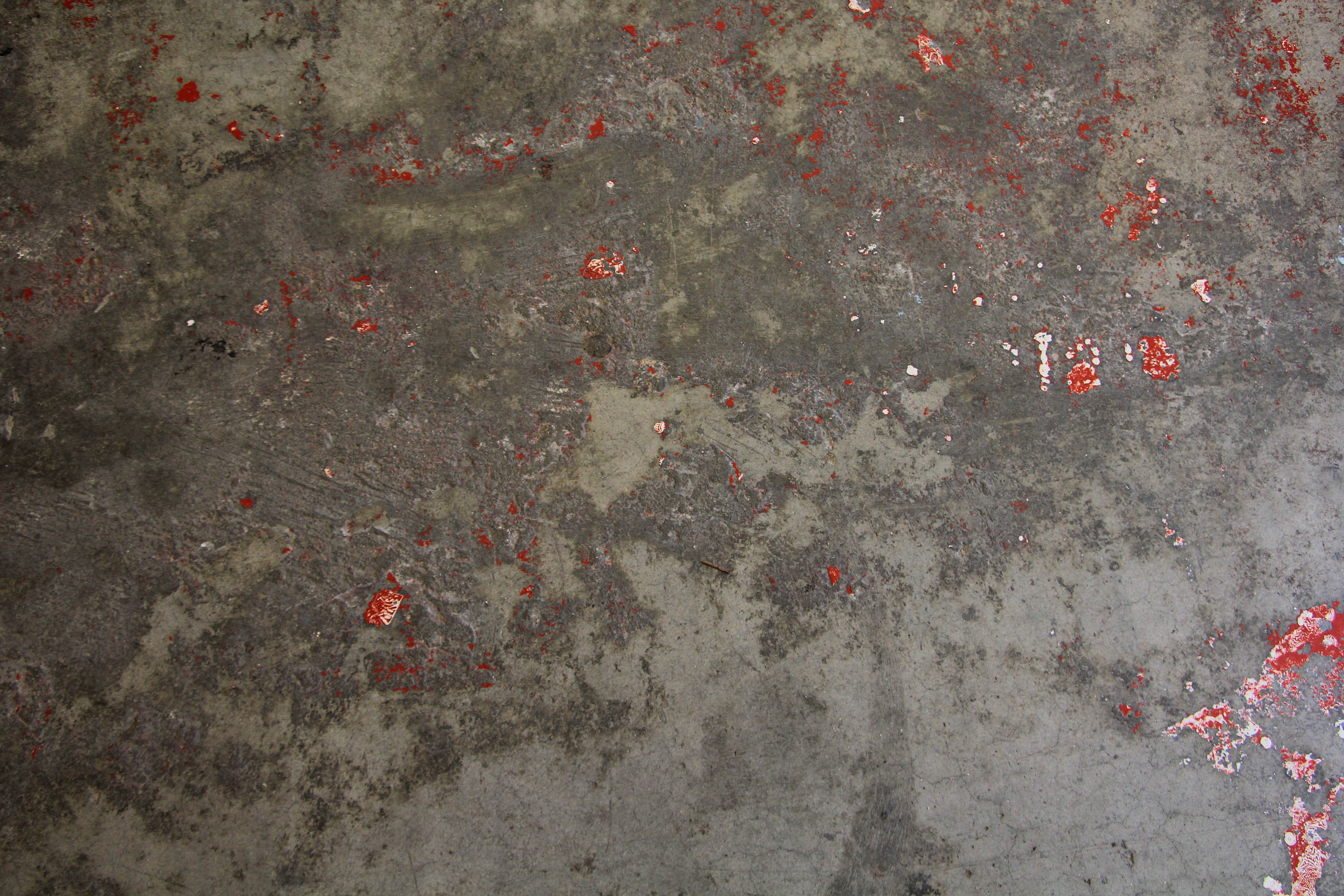 grunge texture concrete grey spotted red paint rough old stock