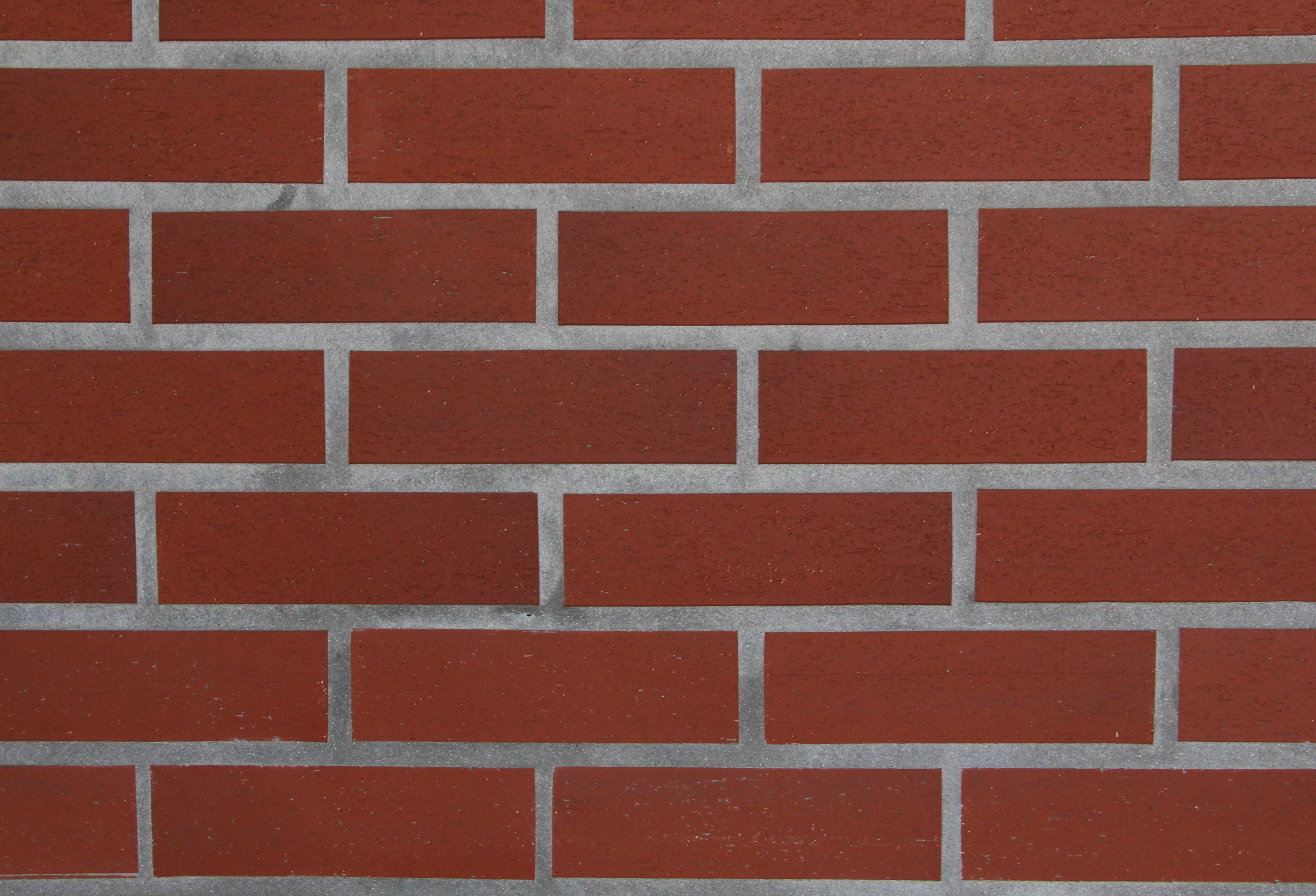Red Brick Texture Even Wallpaper Rough Surface Stock Photo