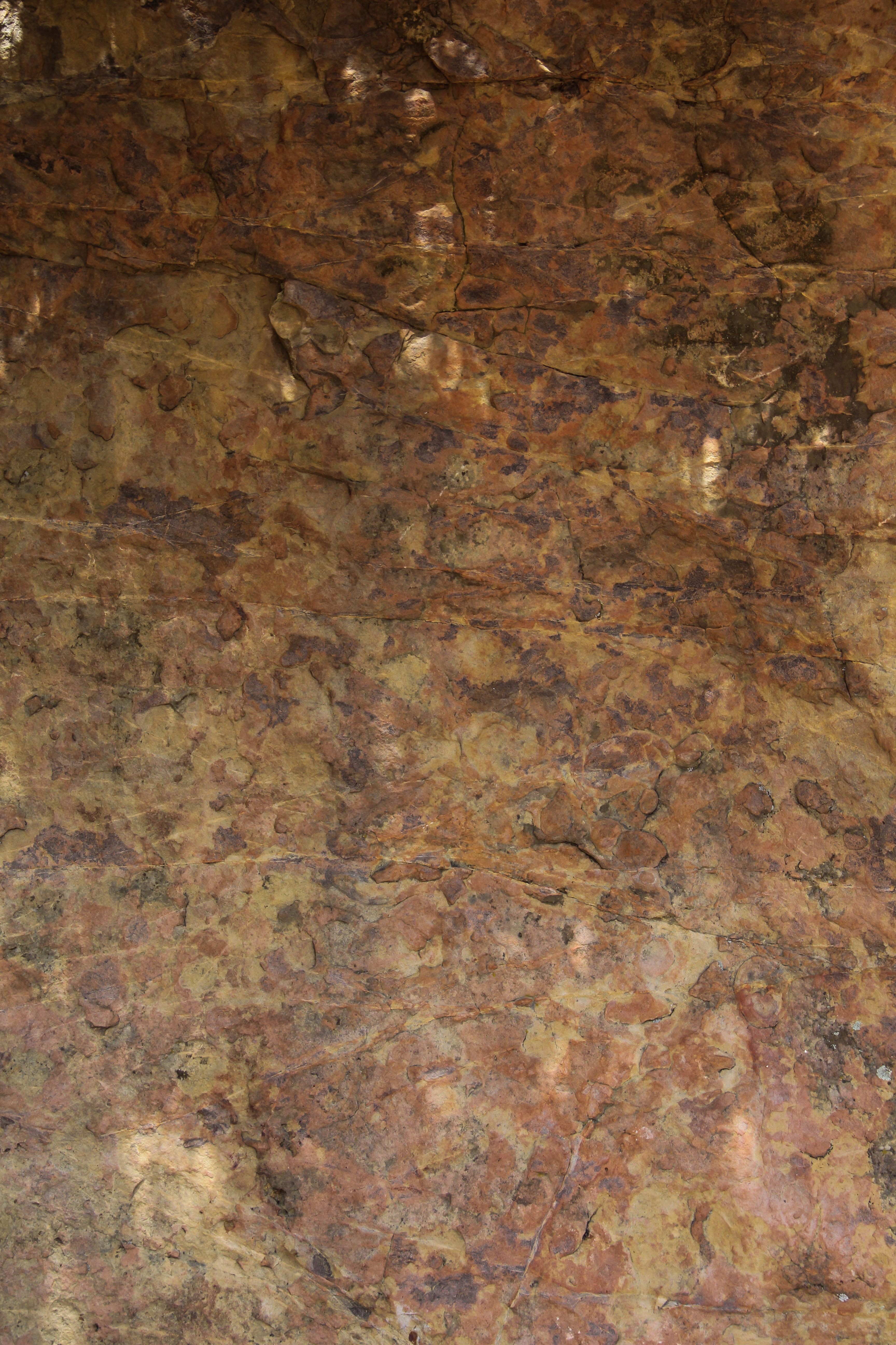 Brown Granite Rock : Red rock texture spotted brown colorful surface formation
