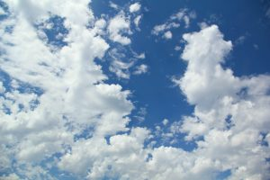 sky texture perfect day blue white fluffy clouds wallpaper background