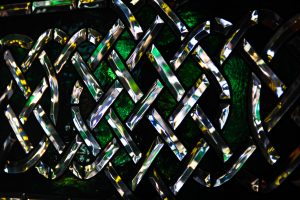 stained glass texture photo celtic knot stock image green irish