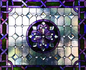 stained glass texture stock photo purple window frosted flower