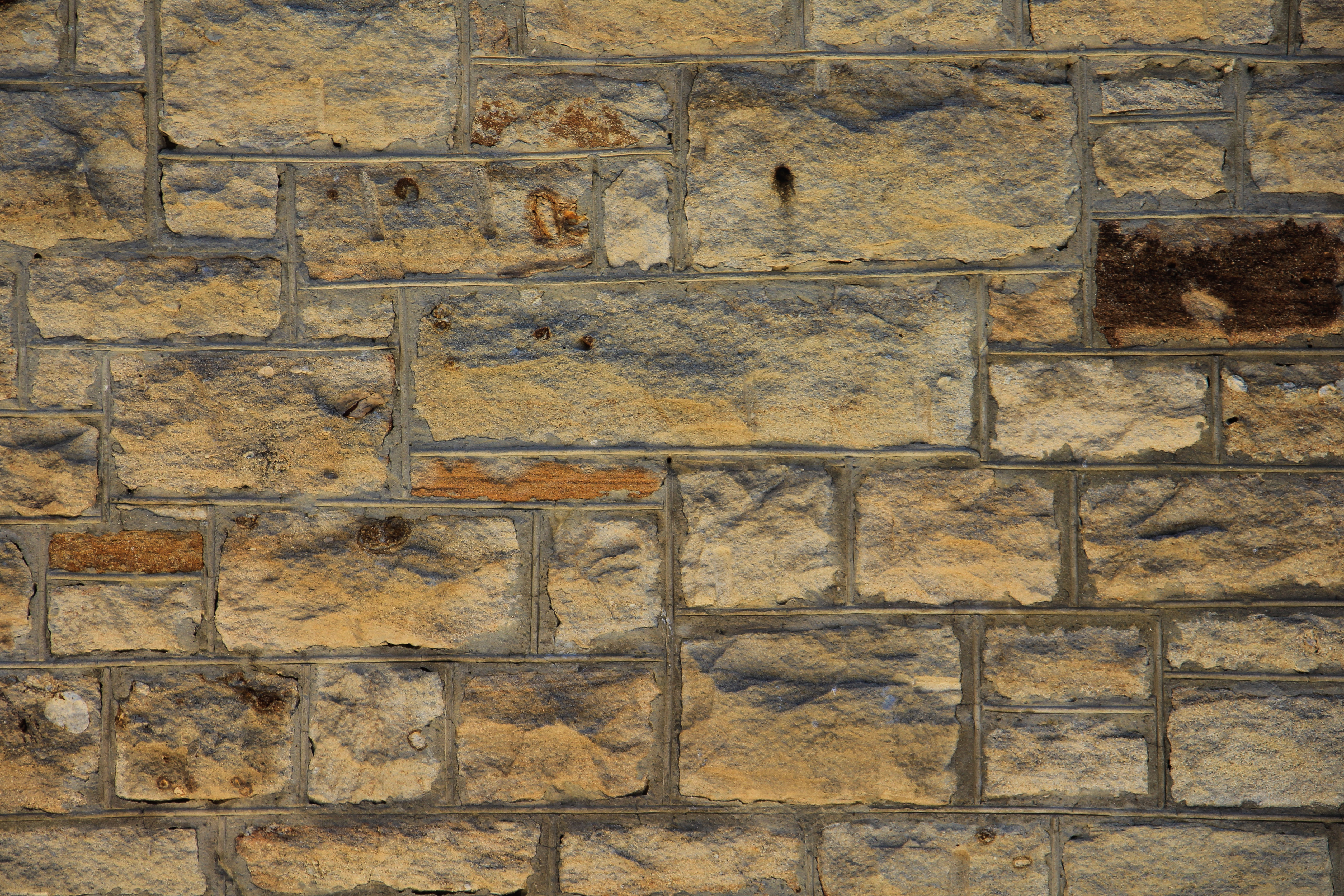 Rough Stone Block Texture : Wall texture brick yellow block stone rough surface photo