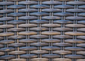 woven wood texture multi colored furniture