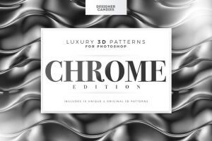 Beautiful Chrome Texture Elements for Your Designs