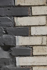 brick and white two tone design wall