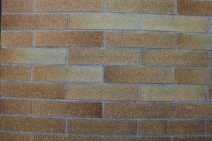 brick photo- wall layout with assorted colors
