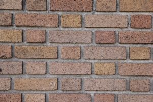 brick photo- wall with pronounced grout